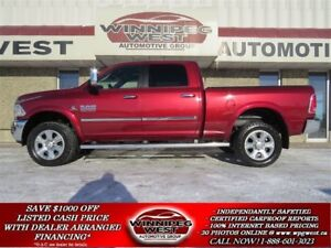 2014 Dodge Ram 2500 LARAMIE CUMMINS DIESEL 4X4, NAV, ROOF, 1-OWN