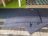 Blue carpet tiles (10 pack)