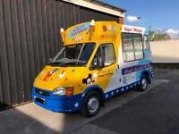 Ford Transit Soft Ice Cream Van Carpigiani Icecream Machine & Slush Machine - 1999 T Reg SWB