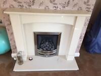 Beautiful Marble Fireplace & Gas Fire