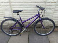 ladies raleigh bike with new d-lock ready to ride can deliver