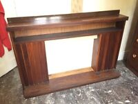 Wooden Fire Surround, chunky design