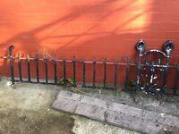 Metal railing for top of garden wall- Edwardian
