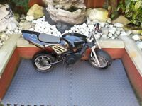 50 cc Mini Moto with nitro boost kit