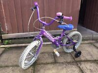 Girl's Purple Bike, suits 4-6 years old