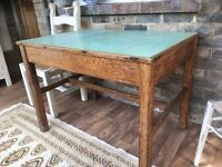 Vintage Dining Kitchen Oak Tables Formica Top i have 2 Were Military Tables