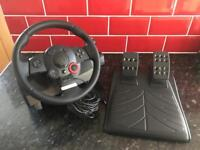 Logitech PS3 / PC racing steering wheel and pedals