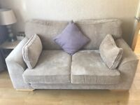 Mink coloured fabric 2 Seater Couch - like new
