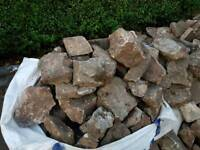 Free garden rocks, sand stones for a pond, broken slabs