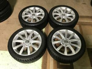 17 Volkswagen OEM wheels and 225/45R17 Winter Tires (Golf, Jetta)