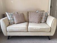 Lovely cream 2 seater DFS sofa - like new!