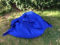 Large bean bag (blue)