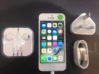 IPHONE 5 WHITE- VISIT MY SHOP. - 16 GB- UNLOCKED - GRADE B - WARRANTY + RECEIPT