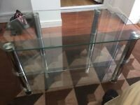 Television glass table