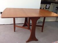 Medium sized drop-leaf dining table - 1970s G-Plan vintage