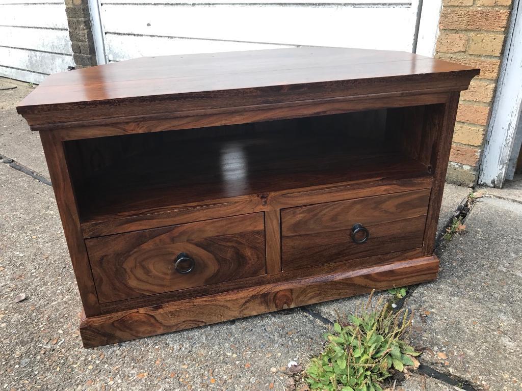 Solid Mango Wood Tv Table/Unit