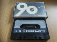 DOMICO HI-FI LOW NOISE 90 VINTAGE BLANK AUDIO CASSETTE TAPE CAN POST T