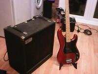 sessionlite 100 watt bass amp complete with westfield bass