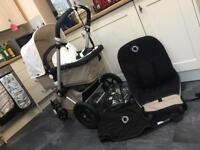 Bugaboo Cameleon 2 pushchair 2011 in sand with extras