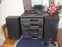 JVC Stereo system with record deck