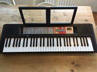 Yamaha PSR F50 Keyboard, 61 Keys, headphone socket, 120 voices, 144 accompaniments, 30 songs