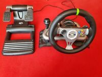 madcatz steering wheel and pedals