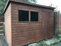10 x 8 Pent Roof Shiplap Garden Shed