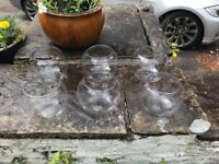 6 fish bowls and mirrors. Used as wedding centre pieces. Make an offer