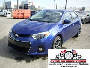 2016 Toyota Corolla S MAG SROOF CAMERA DE RECUL GR ELECT SIEGE C