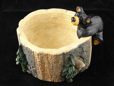 """BIG SKY CARVERS """"BEAR JUNK DISH"""" PAPER CLIP HOLDER BOWL - CONTAINER"""