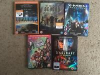Used dvds X5 including suicide squad xmen apocalypse