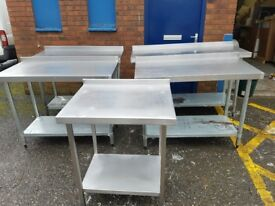Stainless steel wall benches