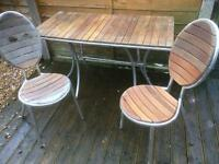 Bents garden centre patio set / table and chairs / bistro set £40