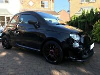Black Abarth 500, full service history, MOT until March 2019