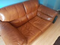 2 Seater Leather DFS Sofa's x2