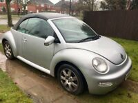 Volkswagen Beetle 2.0 S Cabriolet 2dr£499 spares or repairs 2004 (54 reg), Convertible