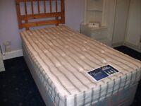 Single Bed with Silentnight Mattress & Duckers Headboard
