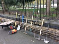 Garden and ground work tools.