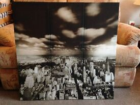 Wall hanging - 3 Piece Set - City Scape Canvas