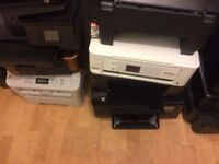 JOB LOT PRINTERS 27 pieces---BARGAIN----HP AND EPSON ----£100