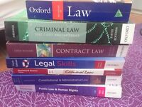 Law Undergraduate first year books - Bundle - Uni - Criminal - Contract - Public