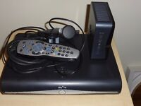 SKY HD BOX, MODEM, REMOTE CONTROL AND CABLES