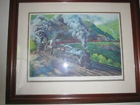 Large (limited edition) print of railway engines