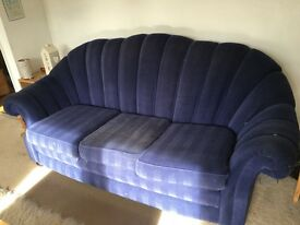 Blue Sofa three seater
