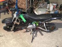 125cc semi auto pitbike
