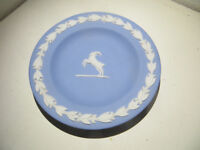Vintage Wedgwood -Small Decorative Plate Jasper Ware Tauris Blue Wedgewood Jasperware