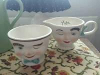 Collectible Baileys Sugar bowl and milk jug