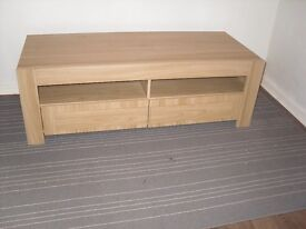 Modern Milan Oak effect TV stand with drawers ex-display 120cm wide
