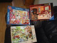 3 x 1000 Piece Jigsaws £2 each or 3 for £5