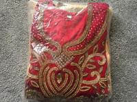 Red gold Indian punjabi suit 3 pieces brand new £20